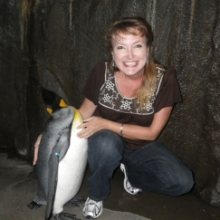 Goofy me with a grin that says I LOVE PENGUINS!