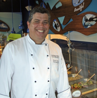 Chef Colon makes some outstanding menu items for Dine with Shamu!