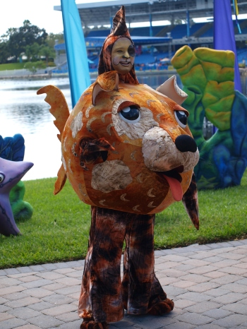 A DOG fish at SeaWorld Spooktacular