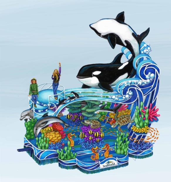2013 SeaWorld's A Sea of Surprises- Macy's Parade float concept sketch