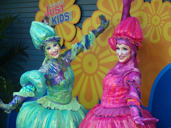 Jellyfish welcome visitors to SeaWorld Orlando's Just for Kids Festival
