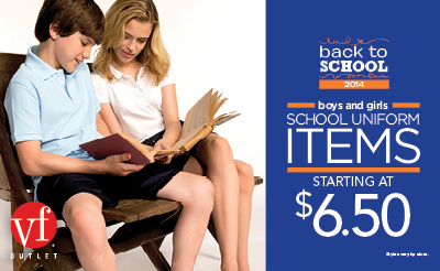 VF Outlet Back to School 2014