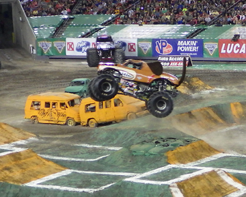 Monster Mutt Rotty in air