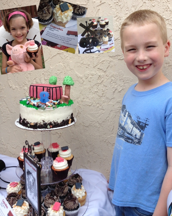 cake with Daniel for Boxcar Children post photo by Kelly Green Gigi's Cupcakes Orlando