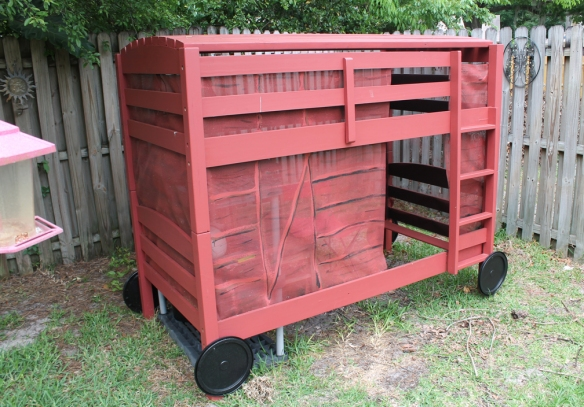 completed boxcar for Boxcar Children post photo by Kelly Green