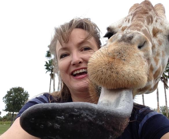 Giraffe selfie
