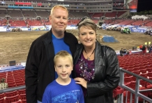 family at monster jam