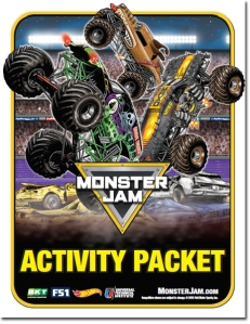 monster jam activity book