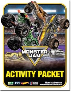 monster jam activity book