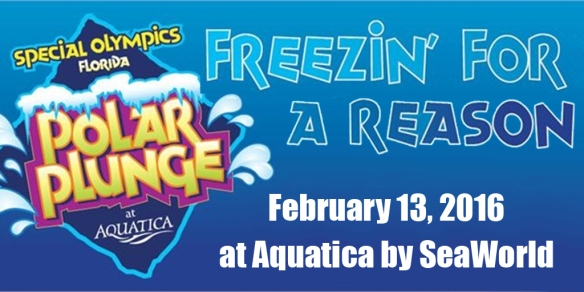 Polar Plunge Freezin' For A Reason at Aquatica by SeaWorld Orlando for Special Olympics Florida