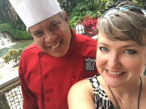 chef Gonzales and Kelly selfie